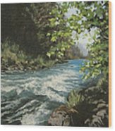 Summer River Wood Print