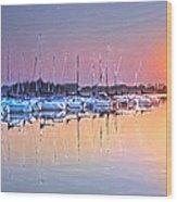 Summer Sails Reflections Wood Print