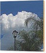 Summer Sky Horizontal Wood Print