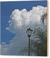 Summer Sky Vertical Wood Print