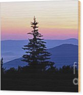 Summer Solstice Sunrise Highland Scenic Highway Wood Print
