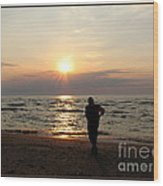 Summer Sunset Solitude Wood Print