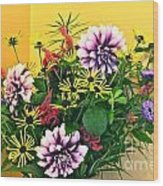 Summer To Autumn Bouquet Wood Print
