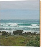 Summer Waters Aqua Wood Print