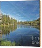 Summit Lake Blues Wood Print