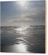 Sun And Silver Sea Wood Print