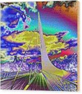 Sun Dial Bridge Redding Ca   Wood Print