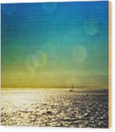 Sun Flare Sail Wood Print