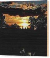 Sun Flash Wood Print