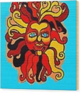 Sun God II Wood Print