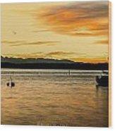 Sun Kissed Sky Wood Print by Sarai Rachel