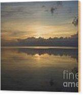 Sun On The Horizon Wood Print