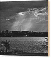 Sun Over Brasilia Wood Print