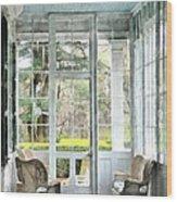 Sun Porch Wood Print by Susan Savad