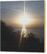 Sun Rising Over Alameda Beach Wood Print