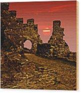 Sun Set Castle Wood Print