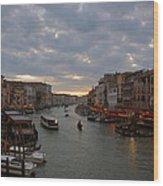 Sun Sets Over Venice Wood Print
