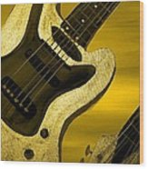 Sun Stained Yellow Electric Guitar Wood Print