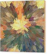 Sunburst Mona Wood Print