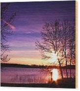 Sunday Lake Wood Print