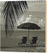 Sunday Morning In Key West Wood Print