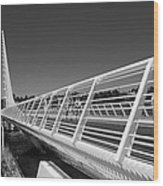 Sundial Bridge One Wood Print