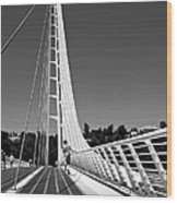 Sundial Bridge Two Wood Print