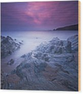 Sundown At Leas Foot Wood Print by Mark Leader