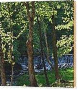 Sundown At The Falls Wood Print