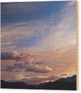 Sundown On The Sierras Wood Print