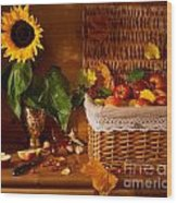 Sunflower - Still Life Wood Print
