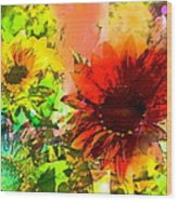 Sunflower 5 Wood Print