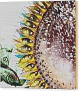 Sunflower Fish 3 Wood Print