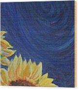 Sunflower Wood Print