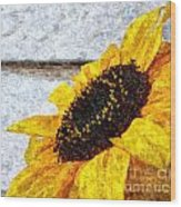 Sunflower Paint Wood Print