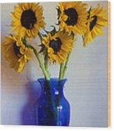 Sunflower Still Life Wood Print