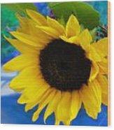 Sunflower Too Wood Print