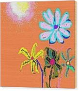 Sunflowered 3 Wood Print