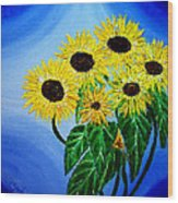 Sunflowers 1 Wood Print