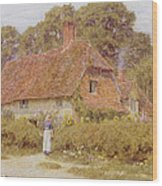Sunflowers By Helen Allingham Wood Print