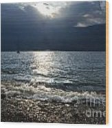 Sunlight And Waves Wood Print