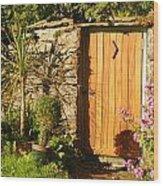 Sunlit Doorway Wood Print