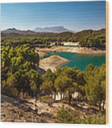 Sunny Day In El Chorro. Spain Wood Print