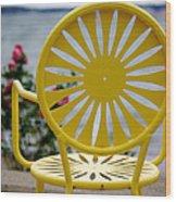 Sunny Side Up Wood Print by Linda Mishler