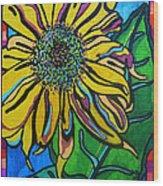 Sunny Sunflower Wood Print