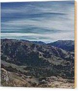 Sunol Panorama Wood Print
