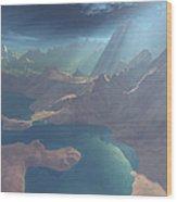 Sunrays Shine Down On This Image Wood Print