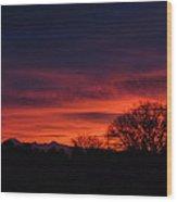 Sunrise 01 10 12 Wood Print