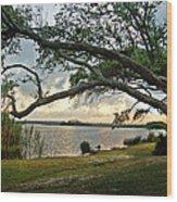 Sunrise Across The Lagoon Wood Print
