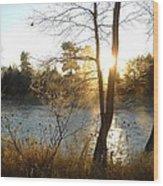Sunrise Across The Mississippi Wood Print